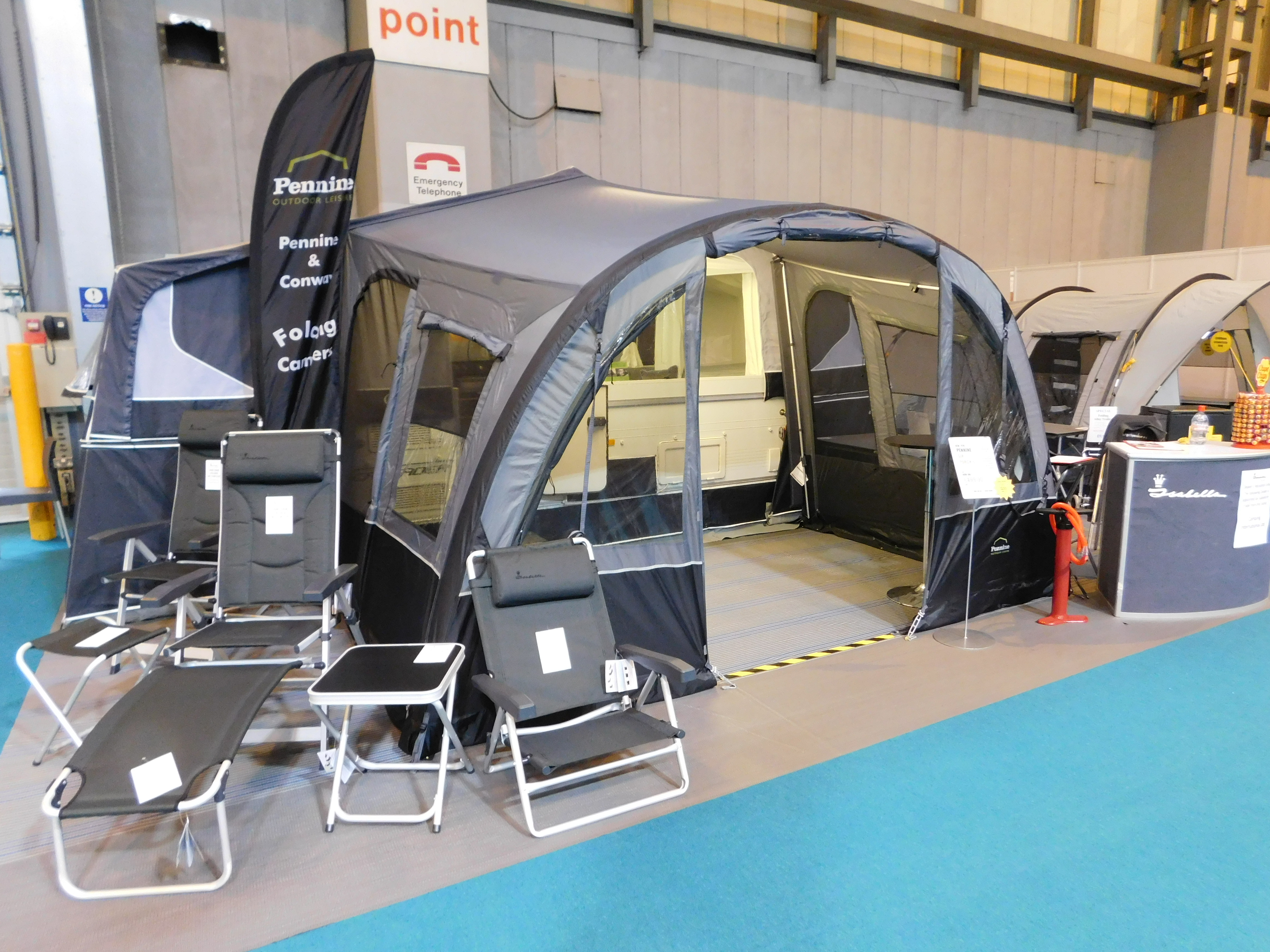 Model Camping And Motorhome Show, Heading Towards Birminghams NEC From 21 To 26 February Ben Together With His Dog Storm Celebrated The Great Outdoors With A Caravan, A Variety Of Tents And Camping Gadgets, Motorhomes And Even A